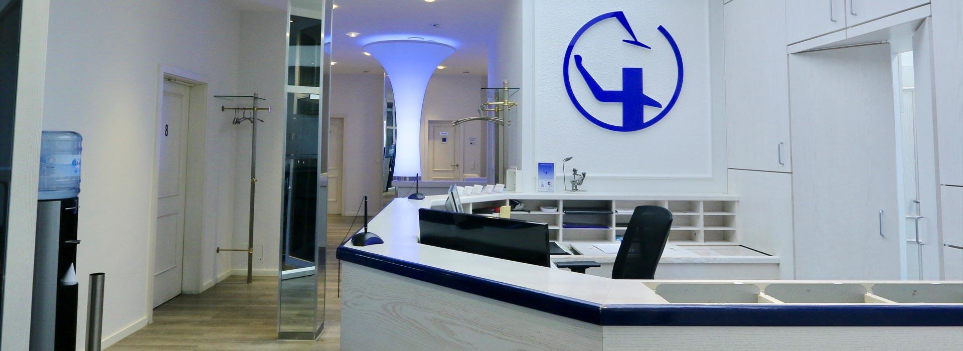 Empfang der Zahnarztpraxis in Münsing